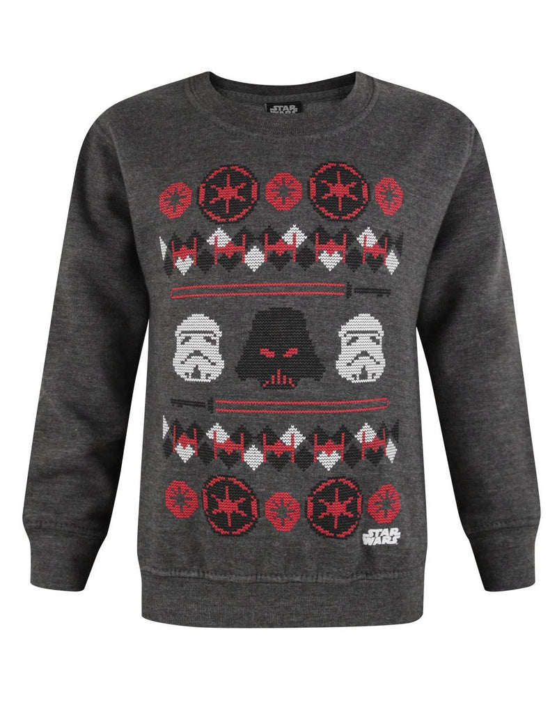 Star Wars Darth Vader Fair Isle Christmas Boy's Sweatshirt