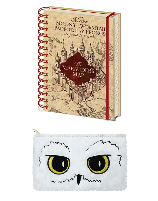 Shop Harry Potter Hogwarts Pencil Case and Marauders Map Notebook Stationary Set (One Size)