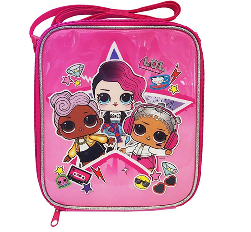 LOL Surprise Dolls Rock Girls Pink Lunch Box School Lunch Container Bag