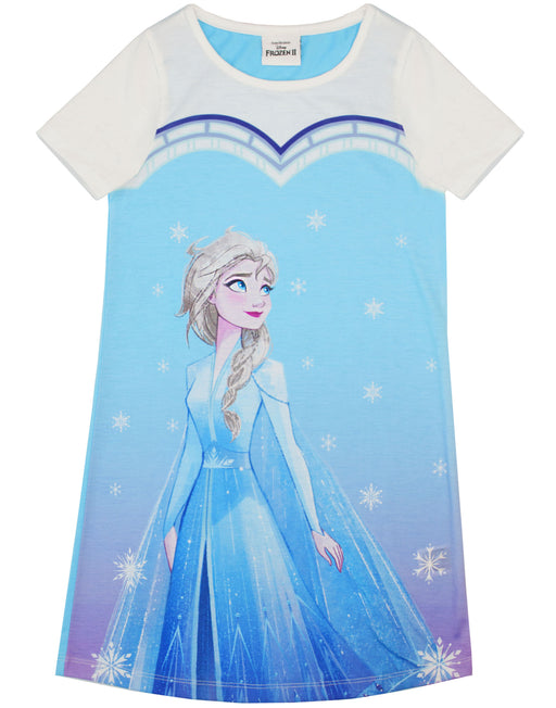 Frozen Elsa Girl's Night Dress Pyjama - Blue