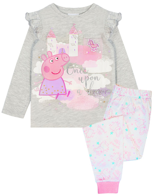 Peppa Pig Pink Mesh Pocket Pyjamas for Girls  T-shirt & Legging Set