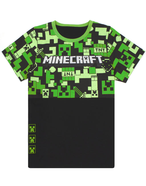 Minecraft Pyjamas Boys Long OR Short Bottom Options Kids Gamer PJs