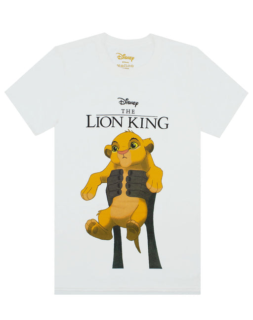 Disney The Lion King Simba Cub Circle Of Life Men's White T-Shirt