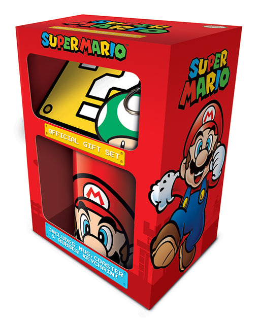 Super Mario Mug, Coaster and Keychain Set