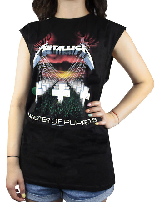Amplified Metallica Master Of Puppets Women's Sleeveless T-shirt