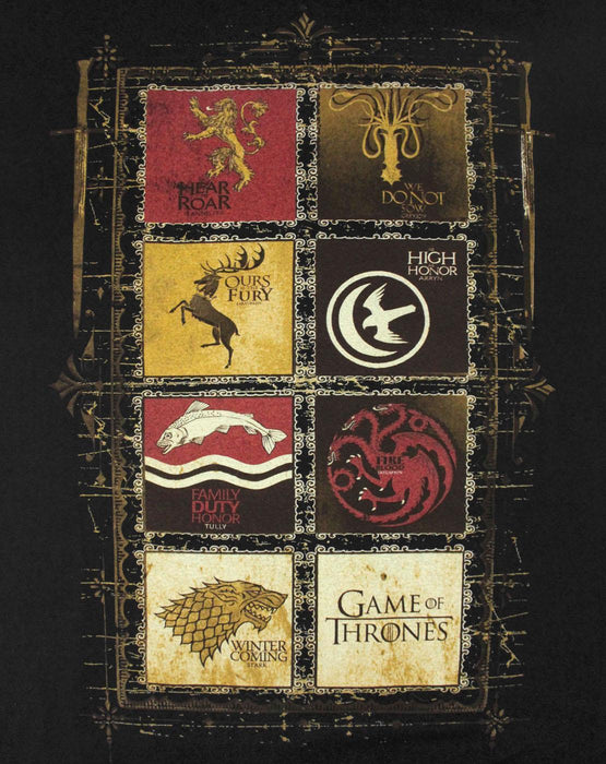 S Game Of Thrones House Panels MenS T-Shirt