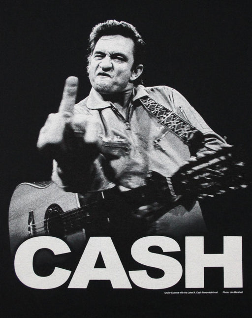Johnny Cash Finger Salutes Men's T-Shirt