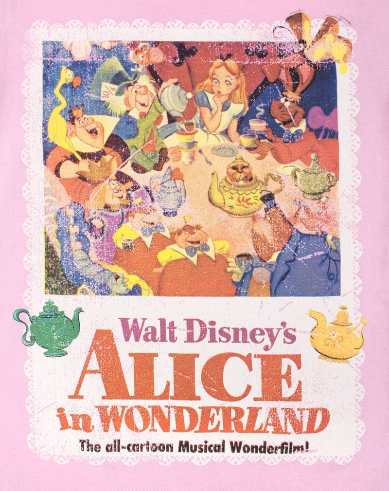 Disney Alice In Wonderland Poster Girl's T-Shirt
