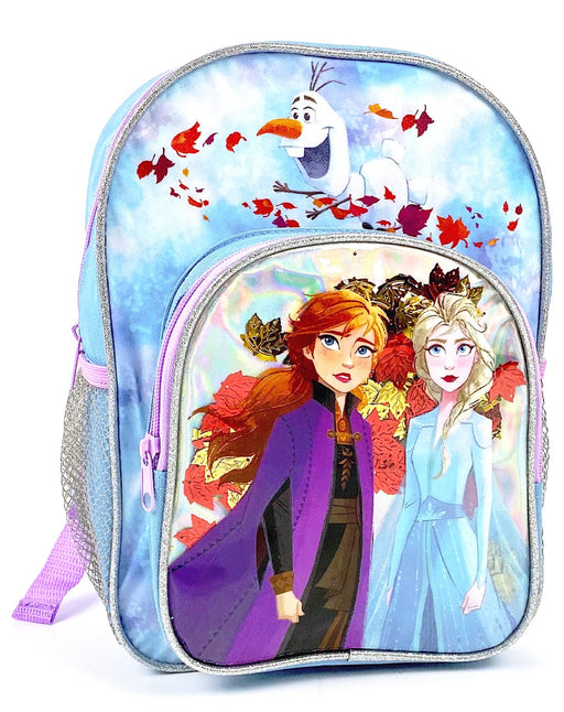 Disney Frozen 2 Elsa & Anna Falling Leaves Metallic Backpack
