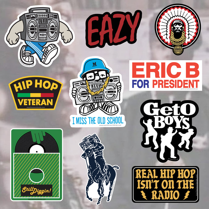 Manifest Hip Hop Sticker Pack