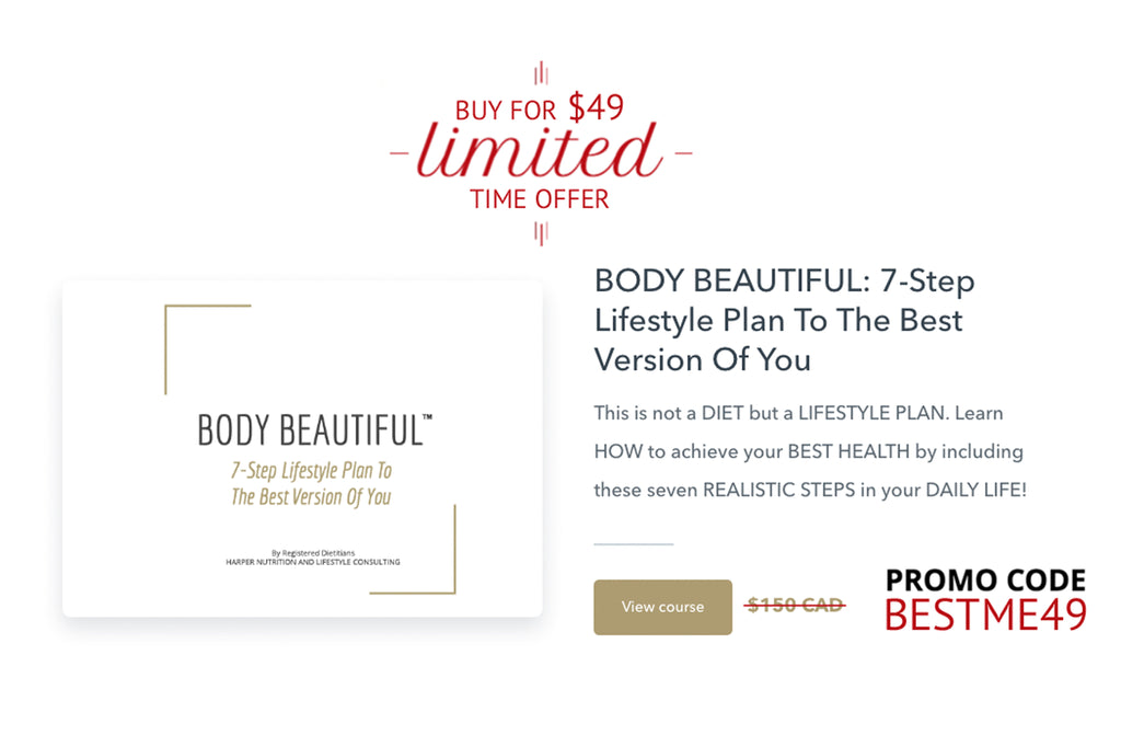 BODY BEAUTIFUL: 7-Step Lifestyle Plan To The Best Version Of You Online Course By Harper Nutrition