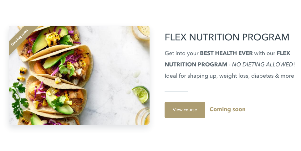FLEX Nutrition Program (Online Course) By Harper Nutrition