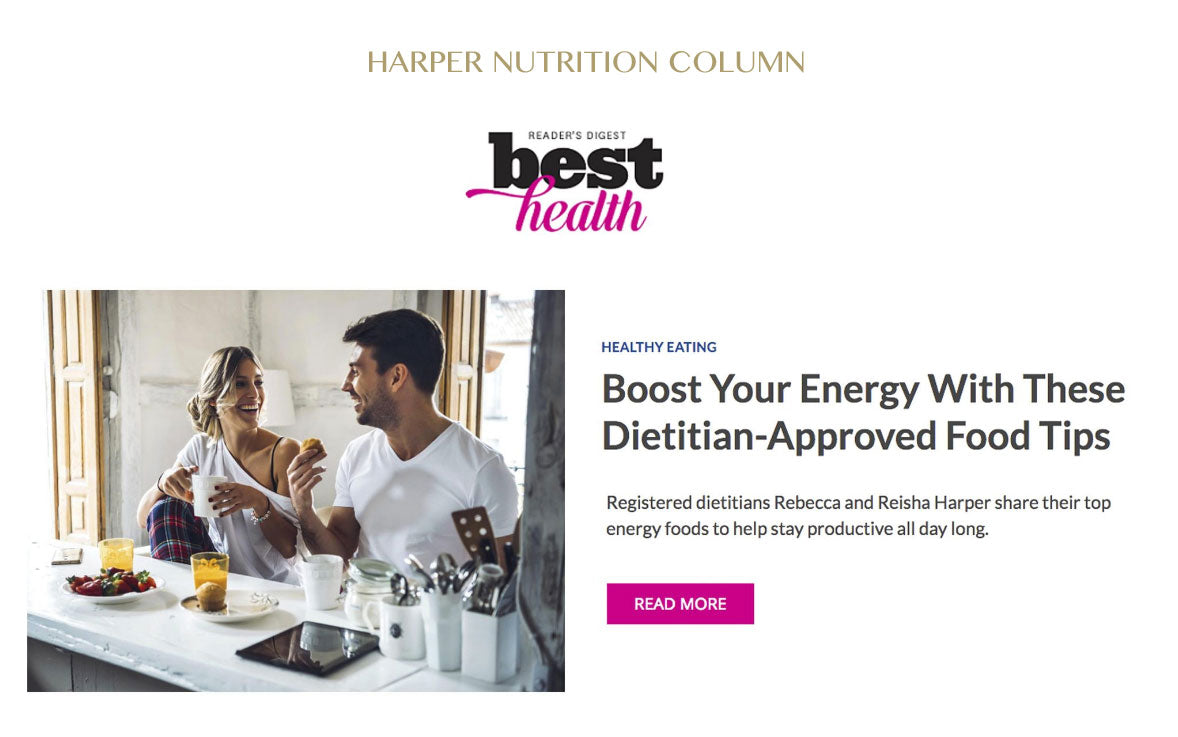 Harper Nutrition Column In Best Health Magazine - The Food Fix That Boosts Energy