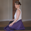 Lotus Wrap patented Meditation Seat Belt & Yoga Strap to support correct posture and ease back pain. Supports correct spinal alignment. Eases muscle tension and anxiety.