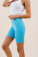 To Lounge Or Bike Shorts In Aqua