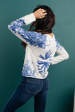 Bursts Of Blue Pullover
