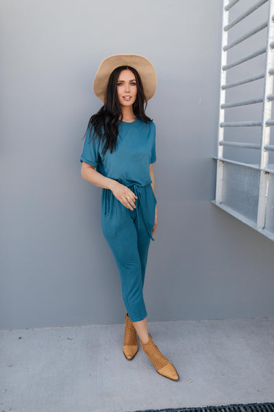 Girl Next Door Jumpsuit In Jade