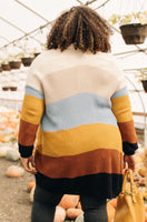 Many Colors Striped Cardigan
