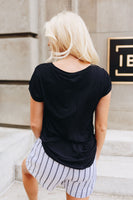 Simply Fabulous Athleisure Tee In Black