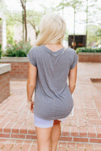 Simply Fabulous Athleisure Tee In Gray
