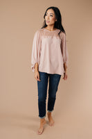 Straight Laced Blouse In Blush
