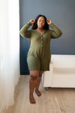 Sweet Dreams Romper in Olive
