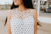 Cross Roads Sleeveless Blouse