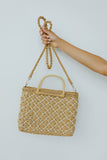 Diamond Weave Straw Bag
