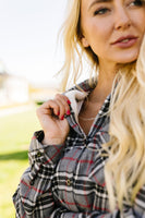 Fleece-Lined Flannel Button-Down In Gray