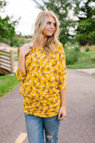 Honeysuckle Shirred Tunic