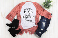 All The Plaid and Pumpkin Things tee
