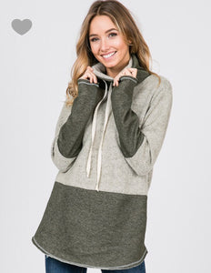 Misty Harbor Cowl Neck Pullover