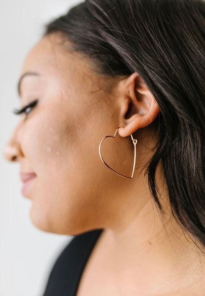 Young At Heart Earrings in 14K Gold & Rose Gold