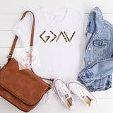 God Is Greater Than The Highs & Lows Tee in Leopard