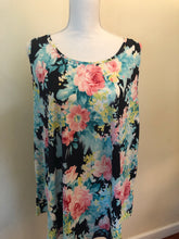Navy and Fushia Floral tank