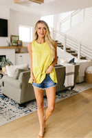 Tiered Tank Top in Coral & Citron