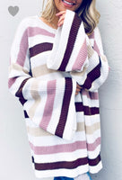 Ribbon Candy Balloon Sleeve Sweater