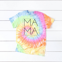 Tie Dye Mama Tee **made to order**
