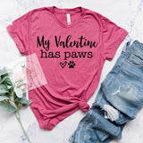 My Valentine Has Paws Tee***made to order***