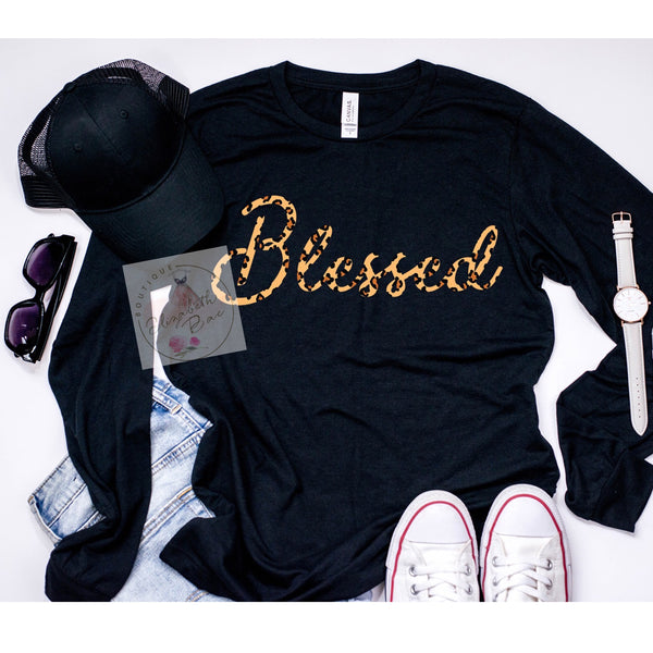 Blessed & Leopard Obsessed Long Sleeve