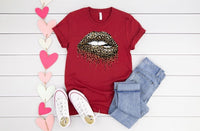 Bleeding Leopard & Gold Tee **made to order**