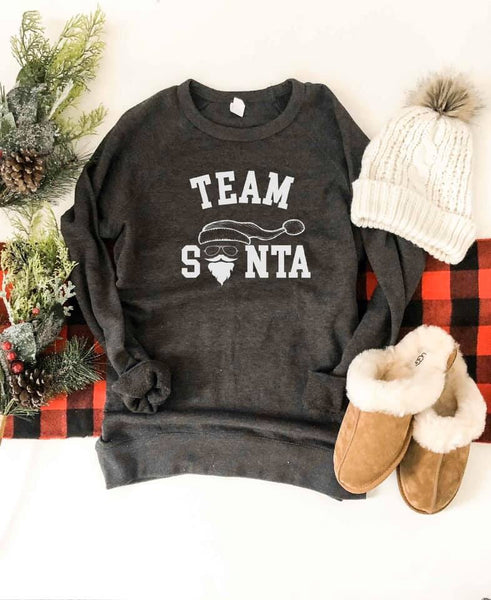 Team Santa French Terry Raglan
