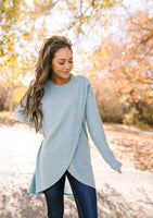 Terrific Tulip Hem Top In Seafoam