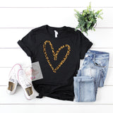 Glitter + Leopard Tee***made to order***