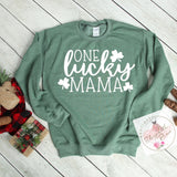 One Lucky Mama Sweatshirt***made to order***
