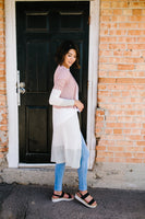 Long And Lean Color Block Cardigan