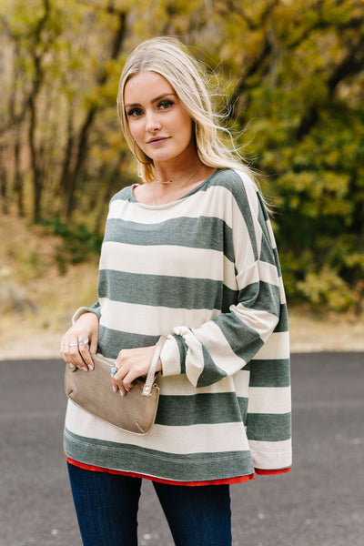 Olive Ya Forever Striped Top