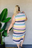 Pool Party Striped Midi Dress