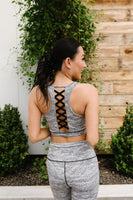 Sandstorm Print Lattice Racerback Sports Bra