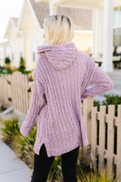 Sugar Plum Popcorn Knit Hooded Sweater